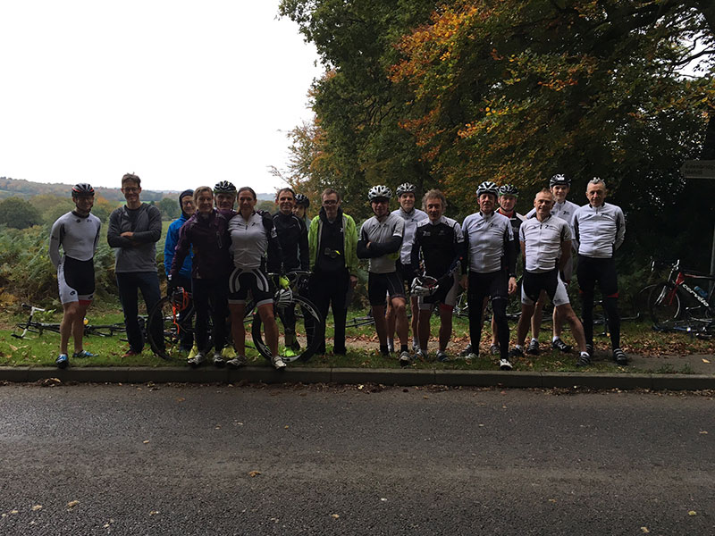 Andy and 7Oaks Team mates annual hill-climb-2015-small