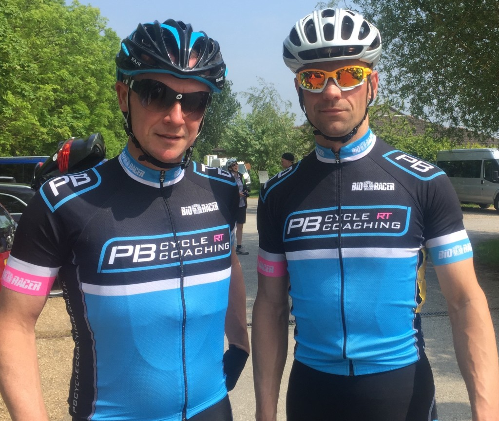 National Masters' Road Race 2016 Barny and Lee before